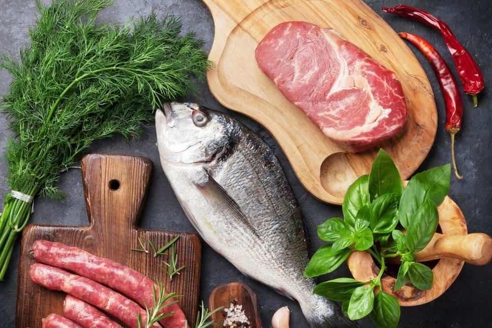 Содержание сложных углеводов рыба мясо