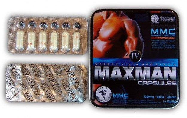 Упаковка таблеток MaxMan