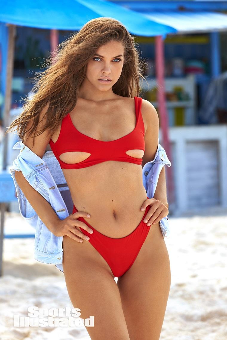 Swimsuit фотосессия на Bahamas для Sports Illustrated. Барбара Палвин.
