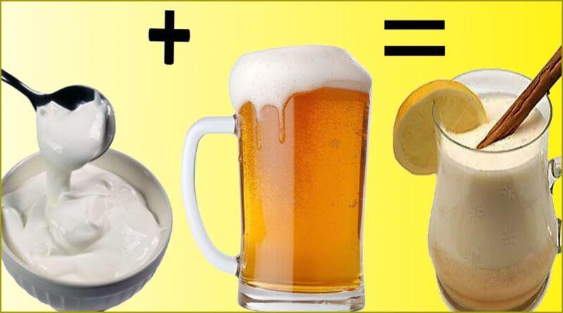 Сметана с пивом и яйцом